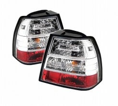 1999-2004 Volkswagen Jetta LED Tail Lights (PAIR) - Chrome (Spyder Auto)