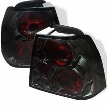 1999-2004 Volkswagen Jetta Euro Style Tail Lights (PAIR) - Smoke (Spyder Auto)