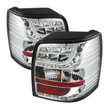 2001-2005 Volkswagen Passat 5Dr LED Tail Lights (PAIR) - Chrome (Spyder Auto)