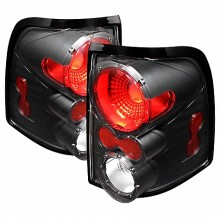2002-2005 Ford Explorer 4Dr (Except Sport Trac) Euro Style Tail Lights (PAIR) - Black (Spyder Auto)