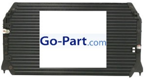 1997-2001 Lexus ES300 A/C (AC) Condenser (3.0L) [with One Block & One Threaded Fitting]