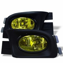 2003-2005 Honda Accord 4Dr OEM Fog Lights (PAIR) - Yellow (Spyder Auto)