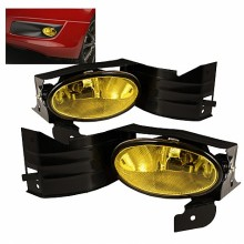 2008-2009 Honda Accord 2Dr OEM Fog Lights (PAIR) - Yellow (Spyder Auto)