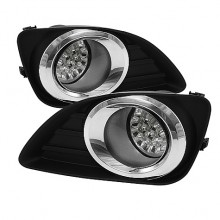 2010-2011 Toyota Camry LED Fog Lights (PAIR) - Clear (Spyder Auto)