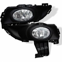 2003 - 2006 Mazda 3 4Dr OEM Fog Lights (PAIR) (Won't Fit 5DR And Sport Model) - Clear (Spyder Auto)