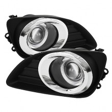 2010-2011 Toyota Camry Halo Projector Fog Lights (PAIR) - Clear (Spyder Auto)