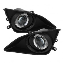 2009-2010 Toyota Corolla Halo Projector Fog Lights (PAIR) - Clear (Spyder Auto)
