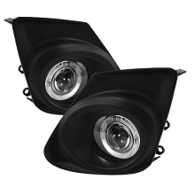 2011-2012 Toyota Corolla Halo Projector Fog Lights (PAIR) - Clear (Spyder Auto)