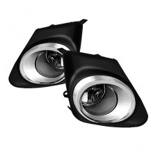 2011-2012 Toyota Corolla (With Chrome rim design in the cover frame) OEM Fog Lights (PAIR) - Clear (Spyder Auto)