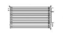 2008 - 2012 Honda Accord A/C (AC) Condenser