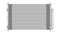2007 - 2013 Acura MDX A/C (AC) Condenser