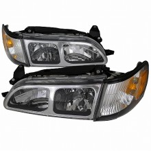 1993-1997 TOYOTA  COROLLA  HEADLIGHTS (PAIR) + CORNER LIGHT CHROME  (Spec-D Tuning)
