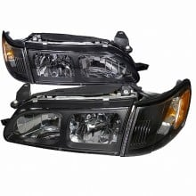 1993-1997 TOYOTA  COROLLA  HEADLIGHTS (PAIR) + CORNER LIGHT BLACK (Spec-D Tuning)