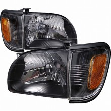 2001-2004 TOYOTA TACOMA CRYSTAL HOUSING HEADLIGHTS (PAIR) BLACK (Spec-D Tuning)