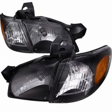 1997-2005 CHEVY  VENTURE  1 PIECE CRYSTAL HEADLIGHTS (PAIR) BLACK (Spec-D Tuning)