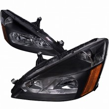 2003-2007 HONDA ACCORD CRYSTAL HOUSING HEADLIGHTS (PAIR) - BLACK (Spec-D Tuning)