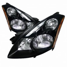 2010-2012 NISSAN ALTIMA CRYSTAL HOUSING HEADLIGHTS (PAIR) BLACK (Spec-D Tuning)