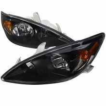 2002-2004 TOYOTA  CAMRY  02-04 TOYOTA CAMRY HEADLIGHTS (PAIR) - BLACK (Spec-D Tuning)