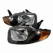 2003-2005 CHEVY CAVALIER CRYSTAL HOUSING HEADLIGHTS (PAIR) BLACK (Spec-D Tuning)
