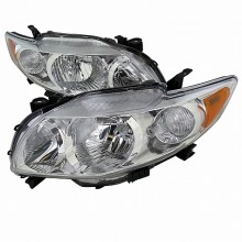 2009-2010 TOYOTA  COROLLA  EURO HEADLIGHTS (PAIR) CHROME HOUSING (Spec-D Tuning)