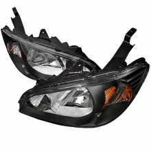 2004-2005 HONDA CIVIC CRYSTAL HOUSING HEADLIGHTS (PAIR) BLACK (Spec-D Tuning)