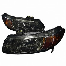 2006-2010 HONDA  CIVIC  EURO HEADLIGHTS (PAIR) SMOKE LENS (Spec-D Tuning)