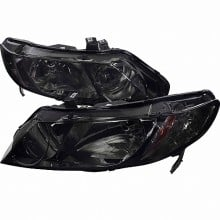 2006-2011 HONDA  CIVIC  06-UP HONDA CIVIC 4DR HEADLIGHTS (PAIR) - SMOKE (Spec-D Tuning)