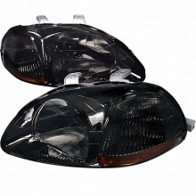 1996-1998 HONDA CIVIC CRYSTAL HOUSING HEADLIGHTS (PAIR) SMOKE (Spec-D Tuning)