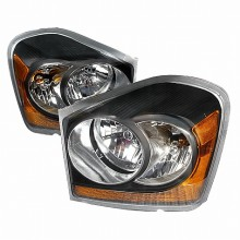 2004-2006 DOGE DURANGO CRYSTAL HOUSING HEADLIGHTS (PAIR) BLACK (Spec-D Tuning)