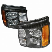 2002-2006 CADILLAC ESCALADE CRYSTAL HOUSING HEADLIGHTS (PAIR) BLACK (Spec-D Tuning)