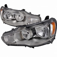 2008-2010 MITSUBISHI LANCER CRYSTAL HOUSING HEADLIGHTS (PAIR) CHROME (Spec-D Tuning)