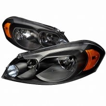 2006-2010 CHEVY IMPALA CRYSTAL HOUSING HEADLIGHTS (PAIR) BLACK (Spec-D Tuning)