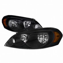 2006-2012 CHEVY  IMPALA CRYSTAL HOUSING HEADLIGHTS (PAIR) BLACK (Spec-D Tuning)