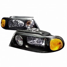 1998-2002 LINCOLN NAVIGATOR CRYSTAL HOUSING HEADLIGHTS (PAIR) BLACK (Spec-D Tuning)
