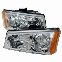 2003-2006 CHEVY SILVERADO CRYSTAL HOUSING HEADLIGHTS (PAIR) CHROME (Spec-D Tuning)