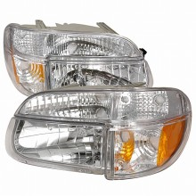 1995-2001 FORD EXPLORER CRYSTAL HOUSING HEADLIGHTS (PAIR) CHROME (Spec-D Tuning)
