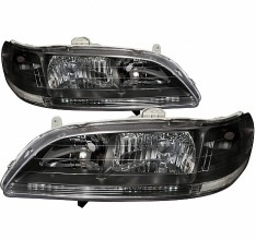 1998-2002 HONDA ACCORD CRYSTAL HOUSING HEADLIGHTS (PAIR) BLACK (Spec-D Tuning)