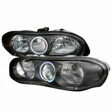 1998-2001 CHEVY CAMARO CRYSTAL HOUSING HEADLIGHTS (PAIR) BLACK (Spec-D Tuning)