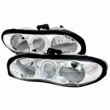 1998-2001 CHEVY CAMARO CRYSTAL HOUSING HEADLIGHTS (PAIR) CHROME (Spec-D Tuning)