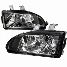 1992-1995 HONDA CIVIC CRYSTAL HOUSING HEADLIGHTS (PAIR) BLACK (Spec-D Tuning)
