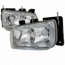 1999-2000 CADILLAC  ESCALADE EURO HEADLIGHTS (PAIR) CHROME (Spec-D Tuning)