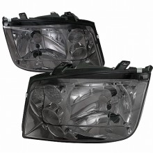 1999-2004 VOLKSWAGEN  JETTA  EURO HEADLIGHTS (PAIR) SMOKE LENS  (Spec-D Tuning)