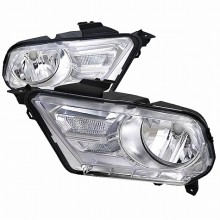 2010-2013 FORD  MUSTANG  EURO HEADLIGHTS (PAIR) CHROME HOUSING (Spec-D Tuning)