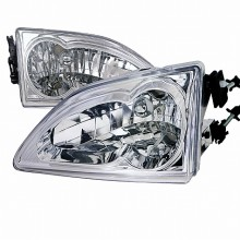 1994-1998 FORD MUSTANG  CHROME HOUSING HEADLIGHTS (PAIR)  (Spec-D Tuning)