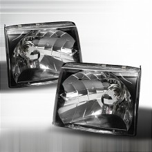 1997-1999 TOYOTA TACOMA CRYSTAL HOUSING HEADLIGHTS (PAIR) BLACK (Spec-D Tuning)