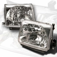 1997-1999 TOYOTA TACOMA CRYSTAL HOUSING HEADLIGHTS (PAIR) CHROME (Spec-D Tuning)