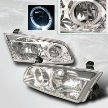 2000-2001 TOYOTA CAMRY CRYSTAL HOUSING HEADLIGHTS (PAIR) CHROME (Spec-D Tuning)