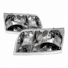 1998-2005 FORD CROWN VICTORIA CRYSTAL HOUSING HEADLIGHTS (PAIR) CHROME (Spec-D Tuning)