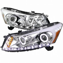 2008-2013  HONDA  ACCORD  PROJECTOR HEADLIGHTS (PAIR) CHROME  (Spec-D Tuning)