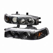 1990-1993 HONDA ACCORD PROJECTOR HEADLIGHTS (PAIR) BLACK (Spec-D Tuning)